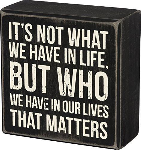 Primitives by Kathy Classic Box Sign, 4 x 4-Inches (Gift Sign Inspirational)