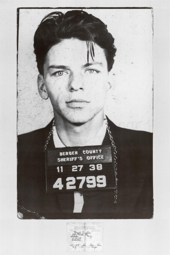 Frank Sinatra (Mug Shot) Music Poster Print - 24x36