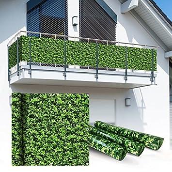 Amazon De Balkon Sichtschutz 6x0 9m Buchsbaum Look
