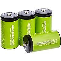 Amazon Basics - Baterías Recargables de celda C 5000 mAh Ni-MH, 4 Unidades