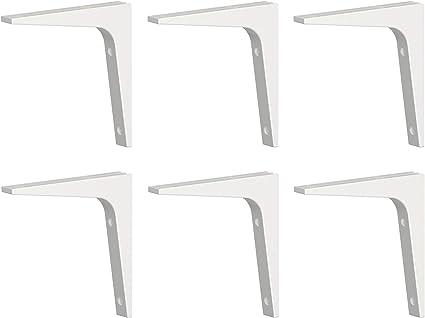 Ikea EKBY STODIS - Juego de 6 Soportes para Estante (17 x 17 cm), Color Blanco