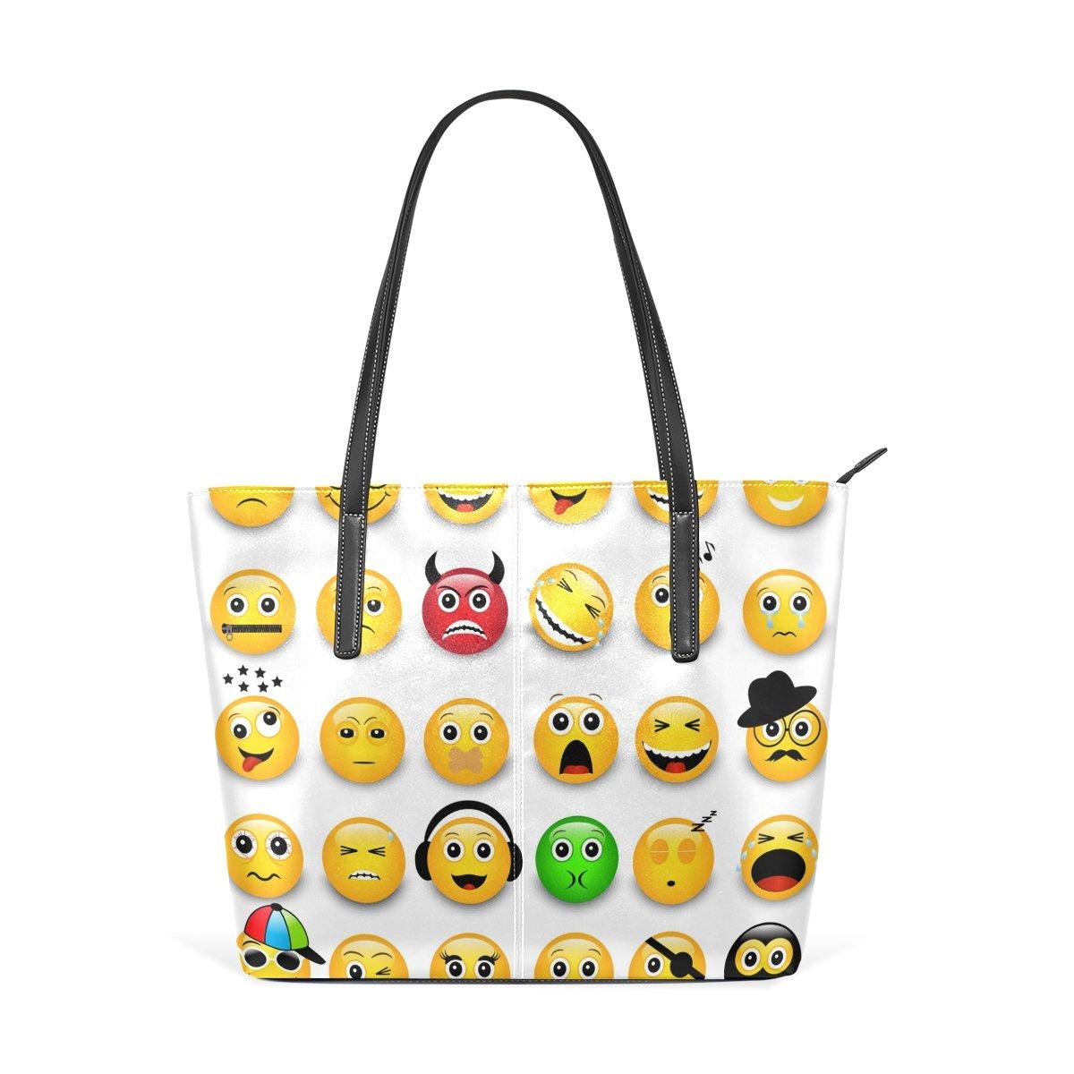 COOSUN Amarillo Emoticonos Emojis PU de Cuero Bolso Monedero ...