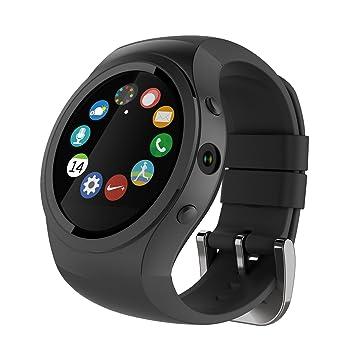 Jiazy Actividad Tracker Bluetooth 1.22 pulgadas IPS pantalla táctil GPS Tracker Smart Pulsera SOS ritmo cardíaco / monitor de sueño remoto de la cámara Paso ...