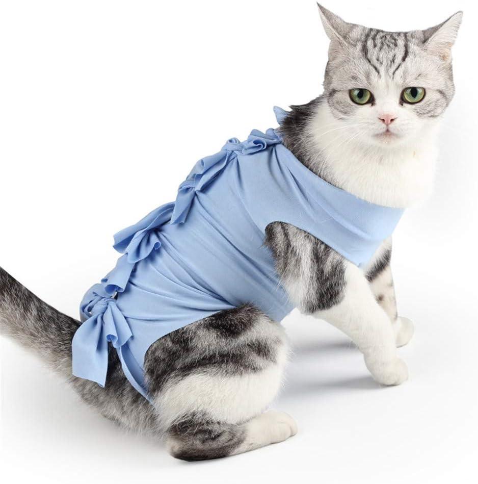HuaXX Pijamas para Perros Pequeños Traje De Recuperación para Gatos Perro médico Chaleco Abrigos de Gato para Mascotas Perro recuperación Trajes Blue,l: Amazon.es: Hogar