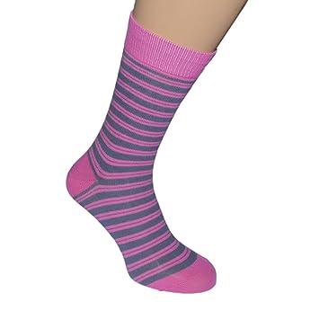 Rosa cityboard calcetines de rayas brillantes. Tamaño adulto leafpod 5-12 euros 38-46: Amazon.es: Jardín