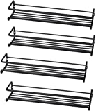 Set of 4 Wall-Mount Spice Rack Organizers – Metal Hanging Racks for Cabinet Door or Pantry Door- Over Stove, Kitchen…