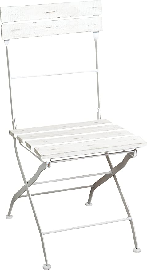 Groovy Amazon Com Biscottini Set 2 Folding Chairs In Iron Wood Ncnpc Chair Design For Home Ncnpcorg