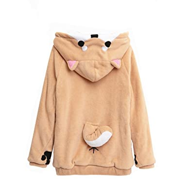 57df5d082 CORIRESHA Cute Coral Celvet Long Sleeve Shiba Inu Dog Home Wear ...