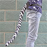 Halloween Costume Dancing Simulation Wacky Animal Long Tail Party Prop Zebra Tail 25'' Inch