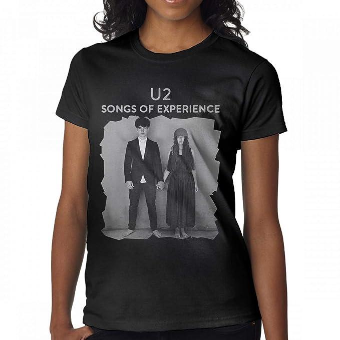 Amazon com: Avis N Women's U2 Songs of Experience Tshirt Black: Clothing