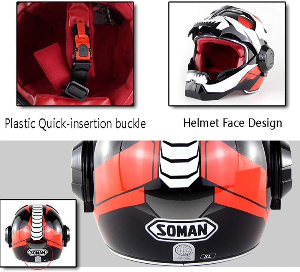 Cheyal D O T Zertifizierter Motorradhelm Motocross Full Face Casco Moto Flip Open Maske Helm Iron Man Transformers M L Xl Xl Sport Freizeit