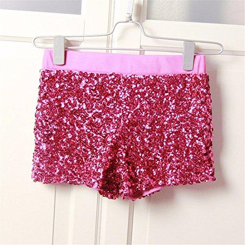 Short Street Femmes moichien Taille Rouge Basse Paillettes Ai Party Danse Sexy Jazz Wrap Rose Pantalons Chauds qg8wxS5X