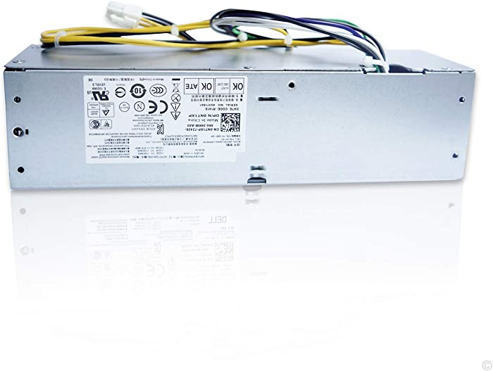NT1XP YH9D7 255W Power Supply for Dell Optiplex 3020 7020 9020 Precision T1700 Small Form Factor (SFF) Systems R7PPW 3XRJ0 V9MVK FP16X T4GWM M9GW7 FN3MN H255ES-00 D255AS-00 D255E001L F255ES-00