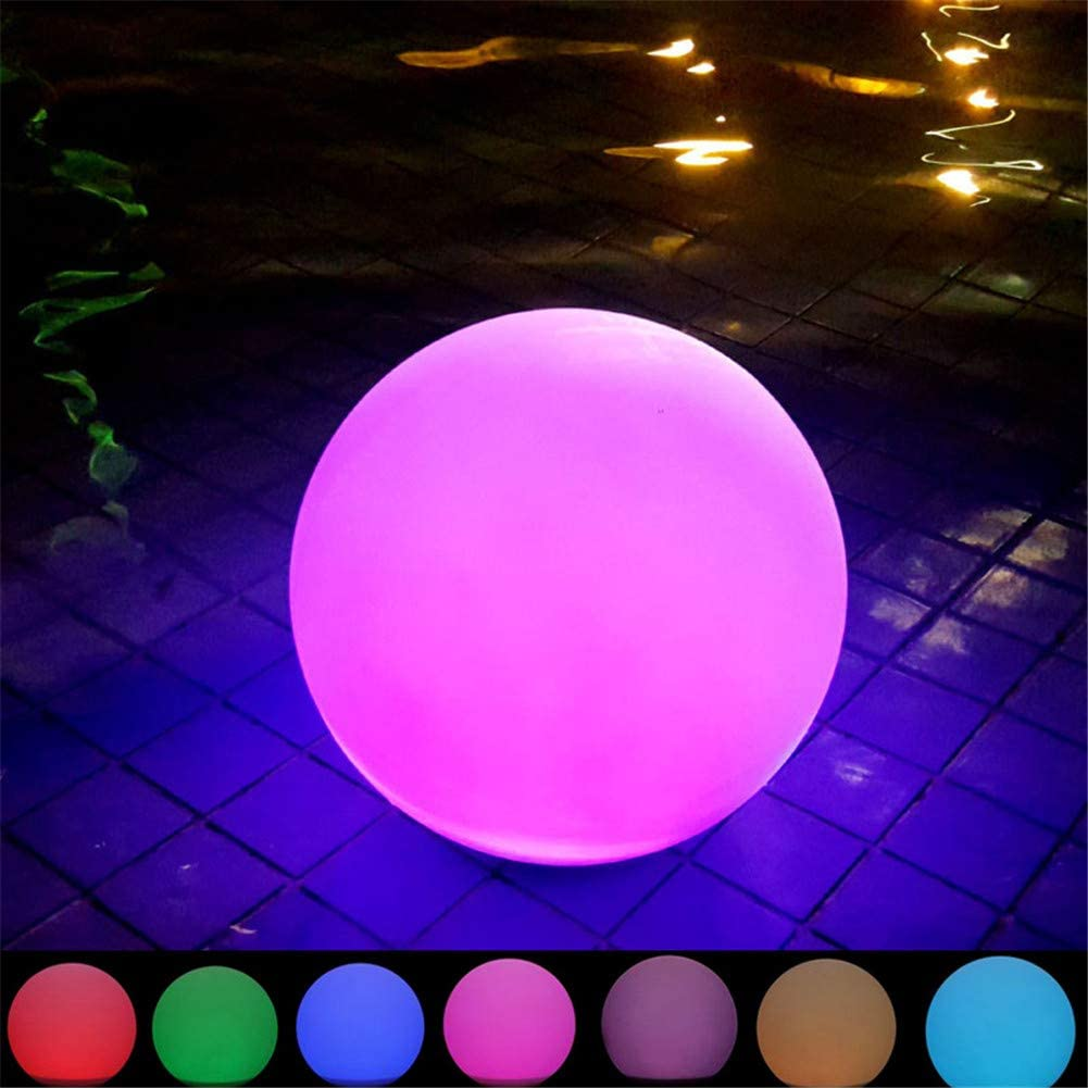 LED Solar Powered Rotating Light Colour Changing Party Spotlight Outdoor V3G8