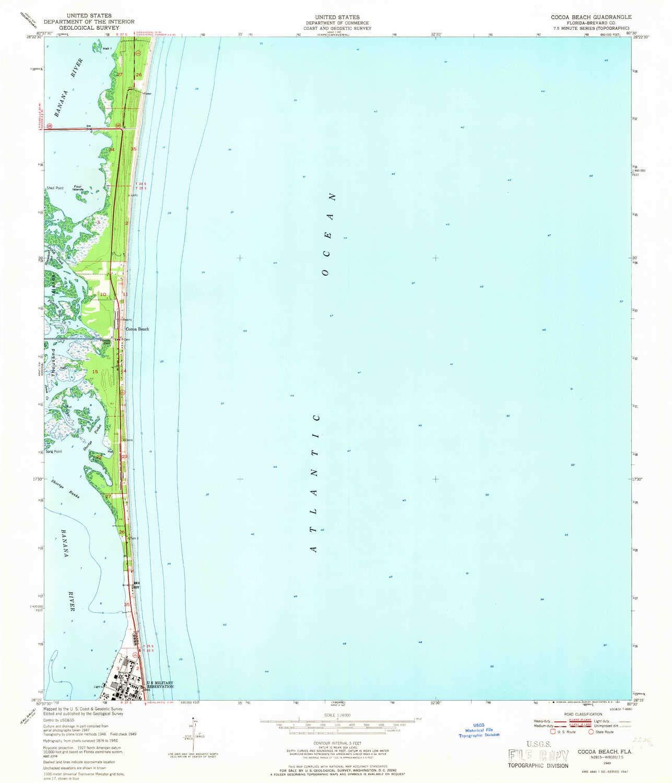 Amazon Com Yellowmaps Cocoa Beach Fl Topo Map 1 24000 Scale 7 5