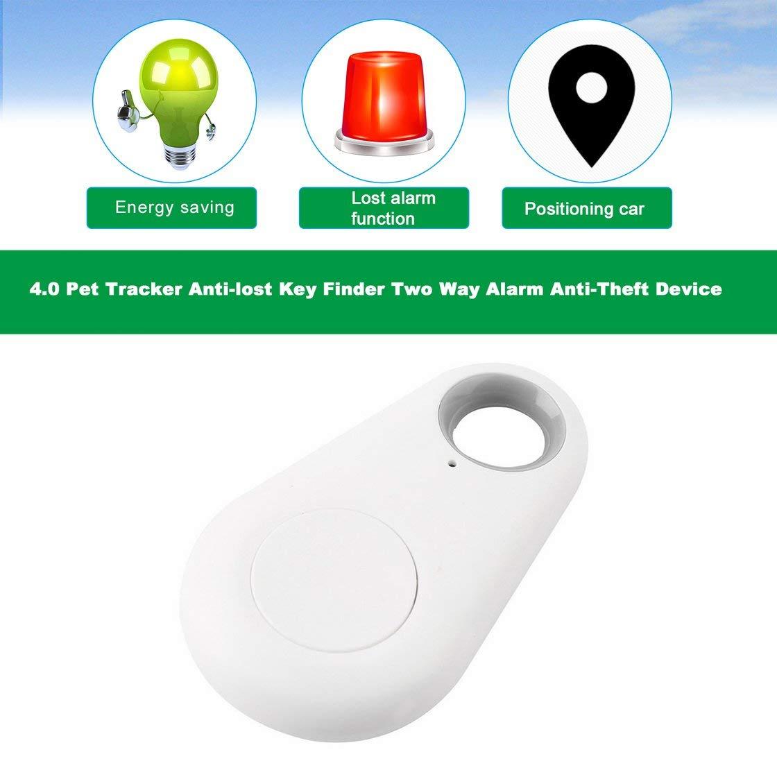 Mini Bluetooth 4.0 GPS Traker Waterdrop Localizador port/átil Anti-perdida Key Finder Pet Tracker Dispositivo de Alarma bidireccional Anti-Robo
