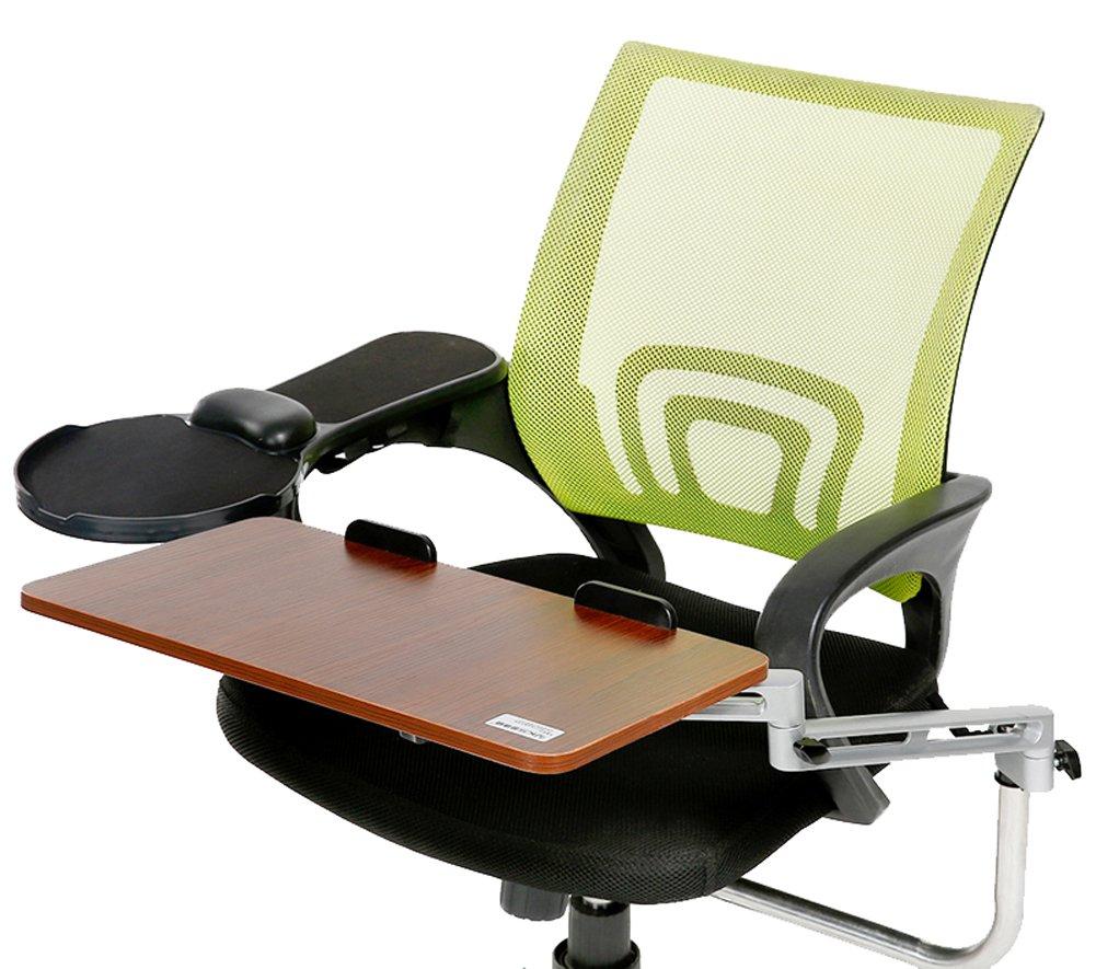 Delicol silla de oficina silla giratoria de hogar (Mount Teclado ergonómico de ajustables de aluminio portátil + soporte Escuadra de ratón (Nogal) DL-03