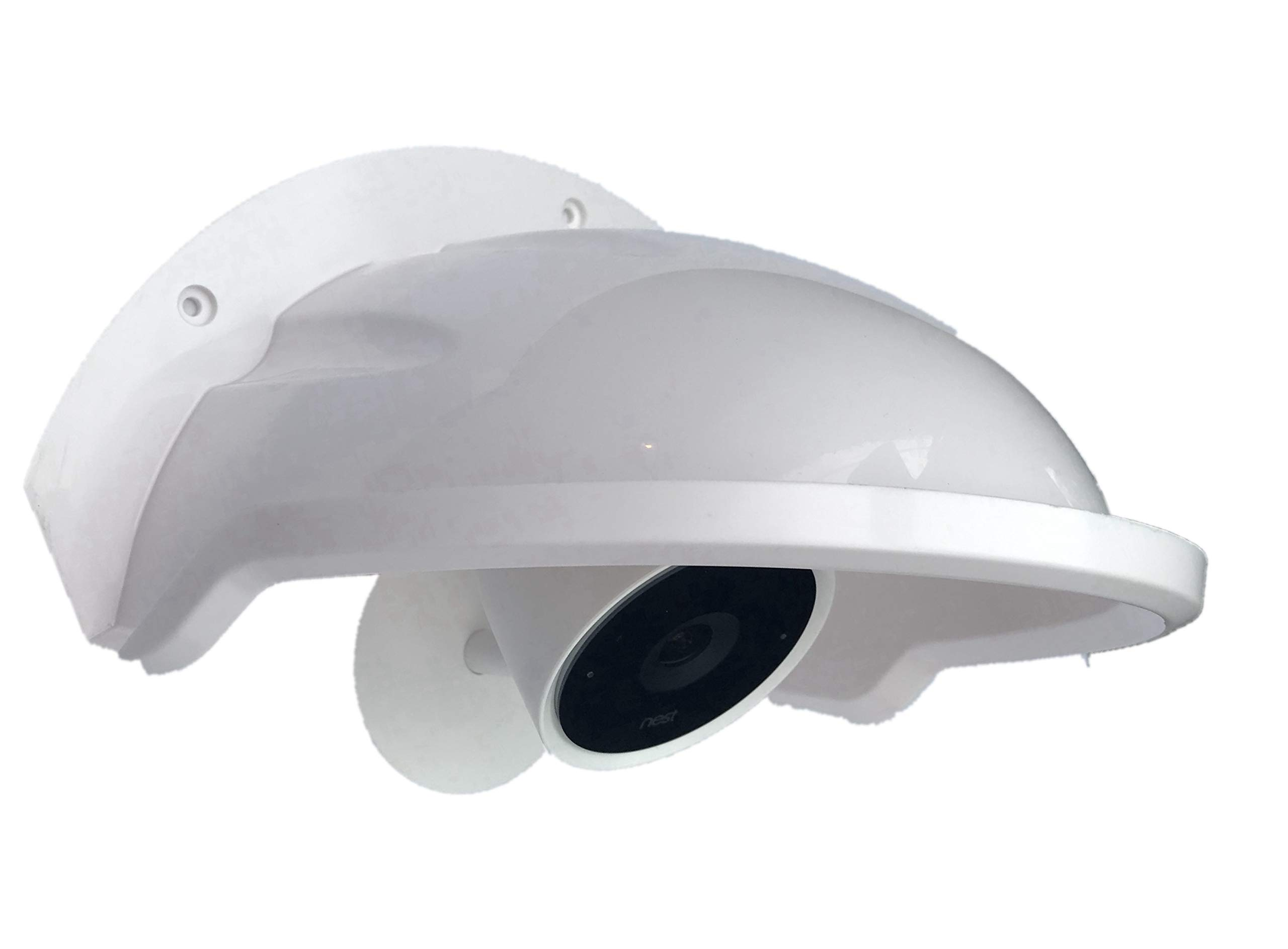 Title: Universal Sun Rain Shade Camera Cover Shield for Nest/Ring/Arlo/Dome/Bullet Outdoor Camera - White -PACK 10