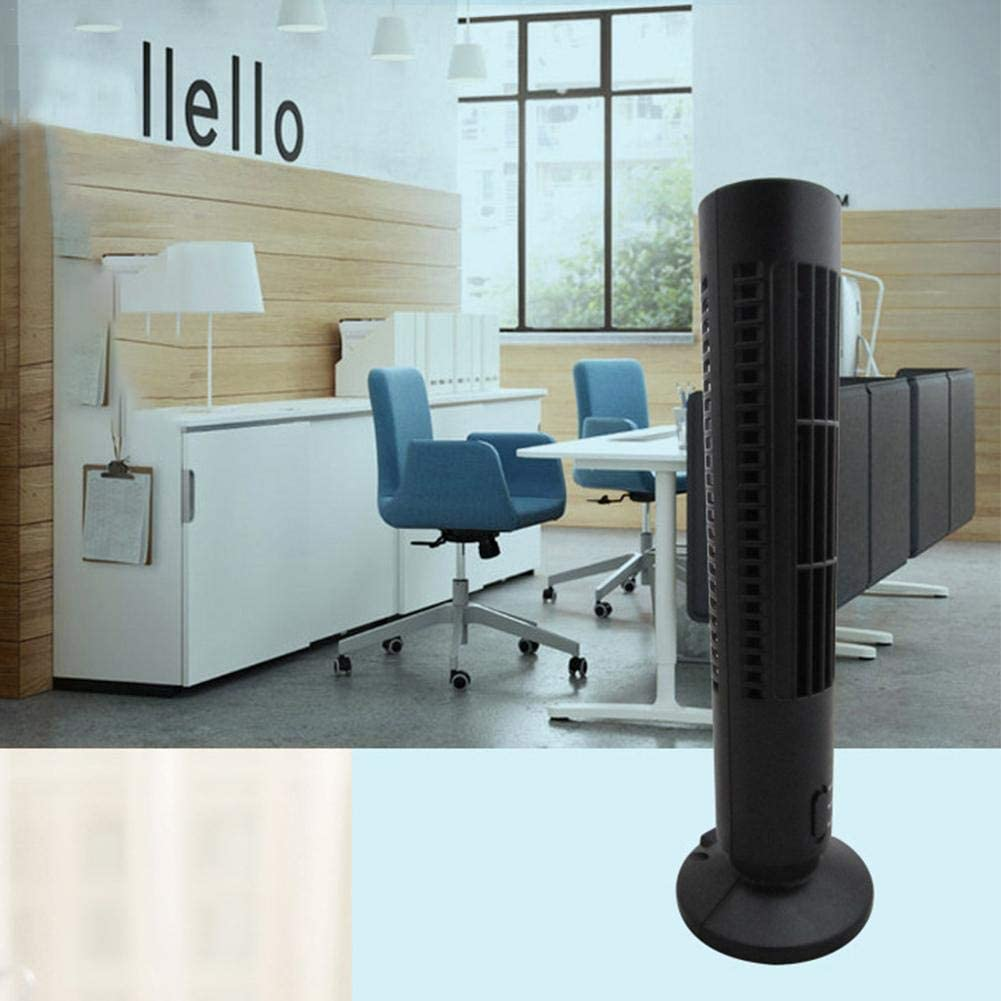 Bianco//Nero Paradesour Ventilatore Quiet Breeze Tower a Due velocit/à per lhome Office 33 cm Astounding Normal