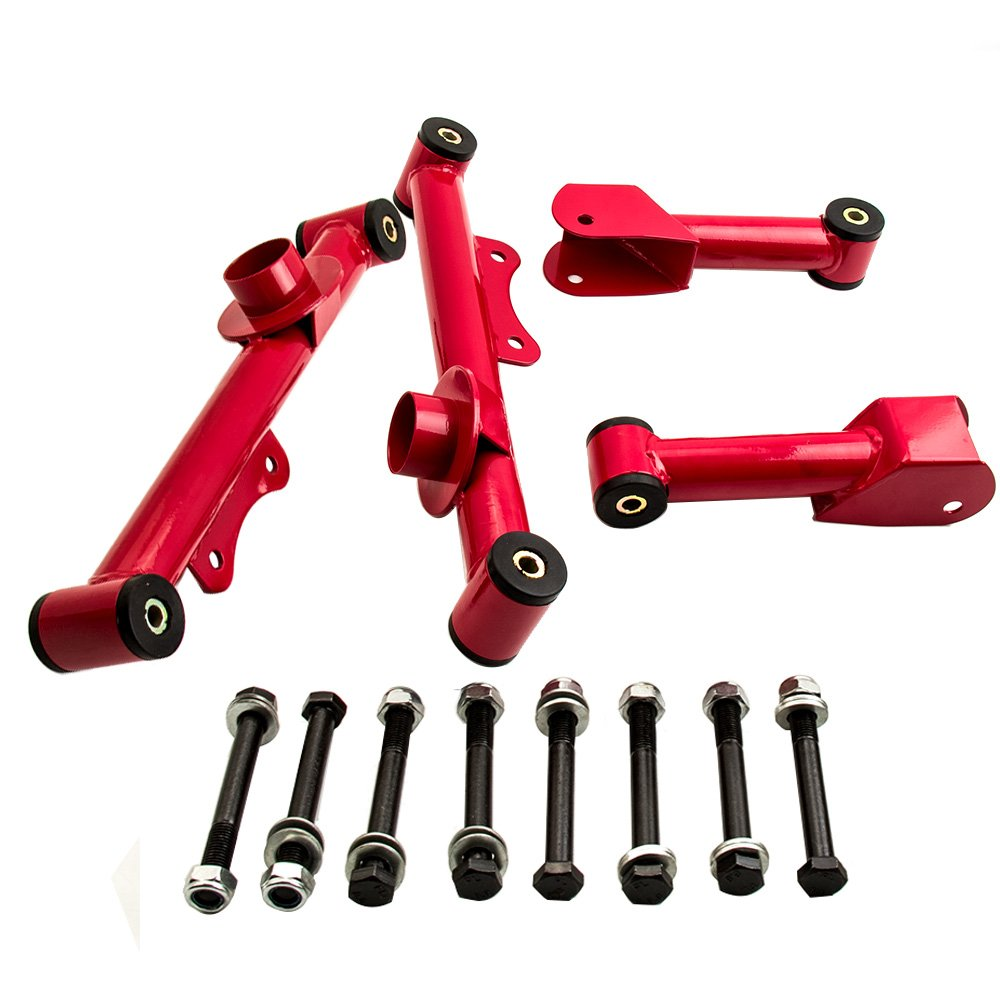 4PCS//set Upper Lower Tubular Control Arm w//Hardware for Ford Mustang 1979-2004 Rear