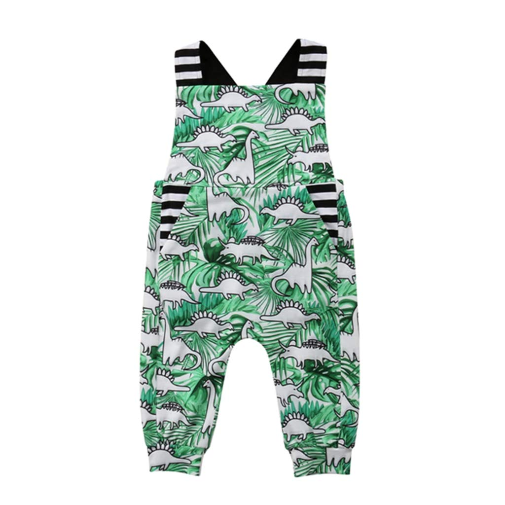 Baby Girl Boy Clothes Green Dino Bodysuit Romper Jumpsuit Outfits Baby One Piece Long Sleeve