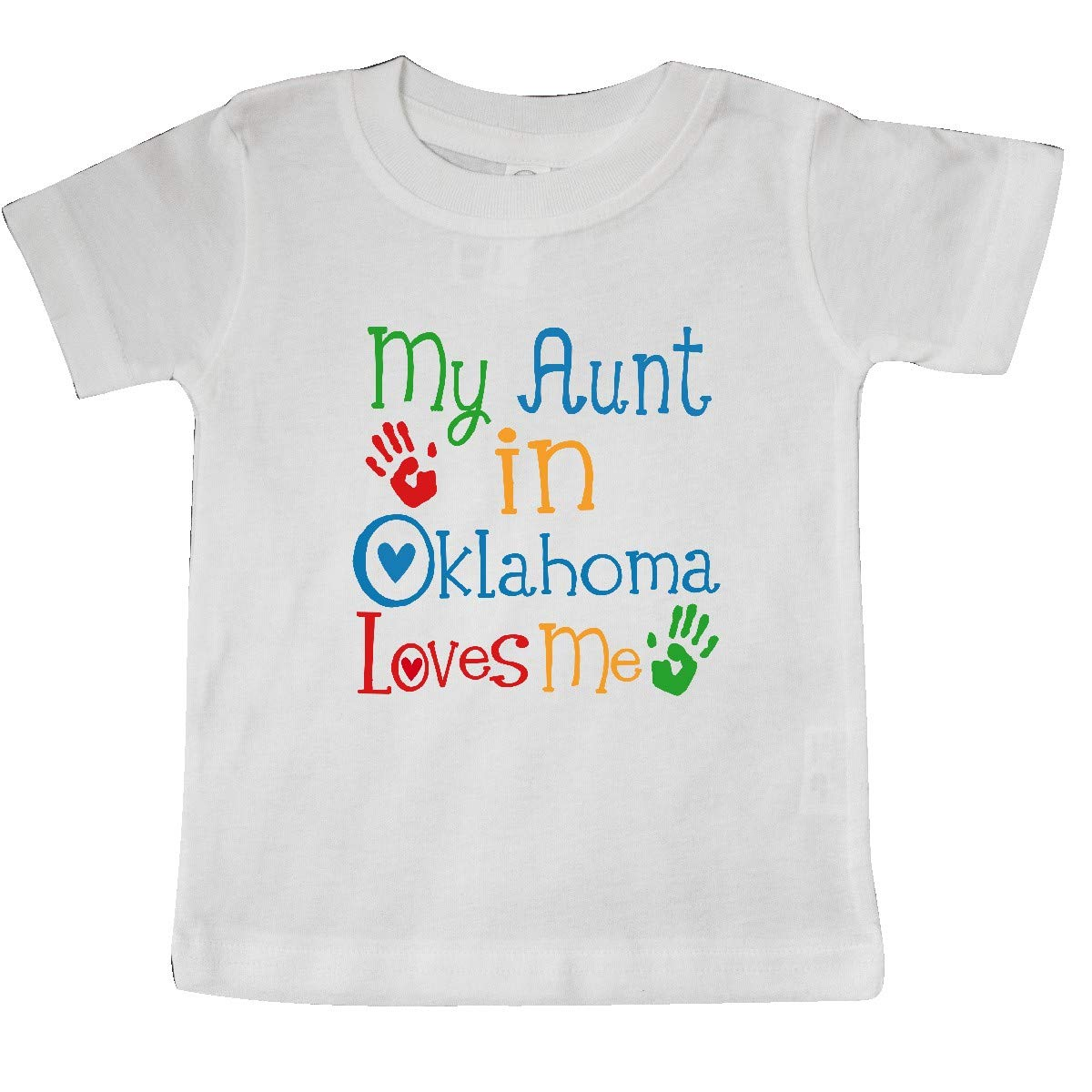 inktastic My Aunt in Oklahoma Loves Me Baby T-Shirt