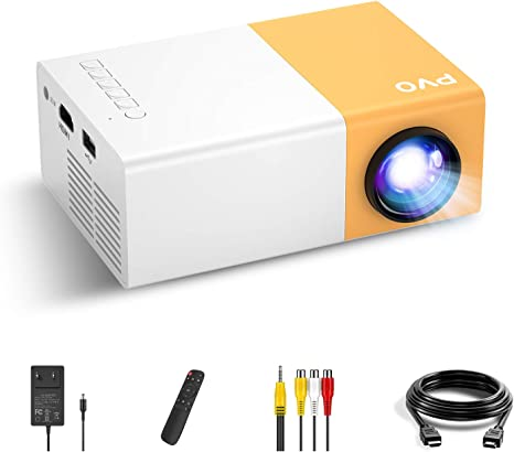 Mini Projector, PVO Portable Projector for Cartoon, Kids Gift, Outdoor Movie Projector for iPhone