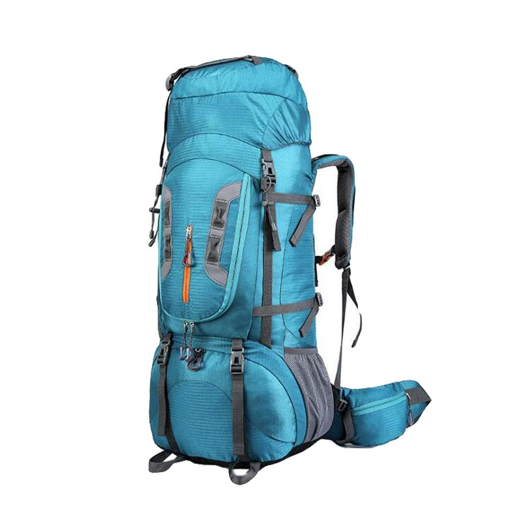 FEIYUESS Outdoor-Großraum-Bergsteigen Tasche Camping Wandern Zelt Tasche 80L professionelle Hebegurt blau
