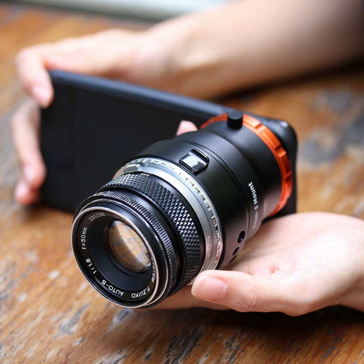 ULANZI DOF Adapter with Sony E Mount for iPhone Samsung Google etc Fits Full Frame Manual Lens Turn Your Smartphone into a Real Camera