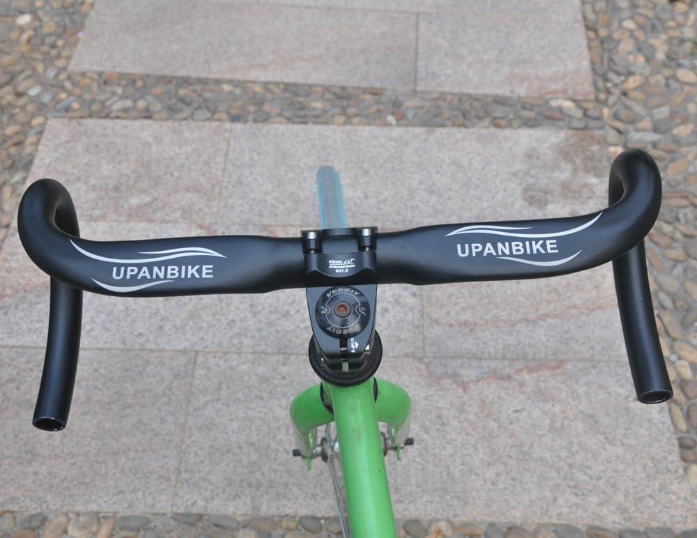 PLATT Rennrad Lenker 25,4//31,8 mm Aluminium Road Bike Lenker Drop Bar Gebogen Lenker 380//400//420mm