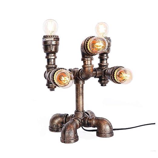Lámpara de Mesa Industrial Vintage Lámpara de Tubo de Agua de ...