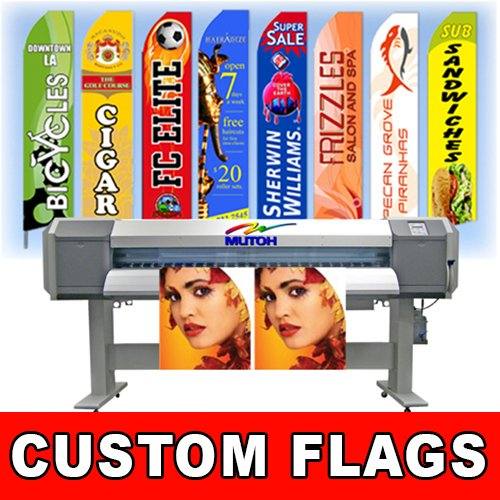 15' Full Color Custom Tall Swooper Advertising Flag Feather Banner +Pole & Spike]()