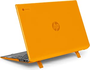 """mCover Hard Shell Case for Late-2019 15.6"""" HP Chromebook 15-DExxxx Series (NOT Compatible with Smaller HP C14 / C13 / C11 Series) laptops (HP C15-DE Orange)"""