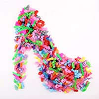 elegantstunning 10 Pairs/Lot Fashion Mini Shoes for for Doll Doll Accessories Random Style