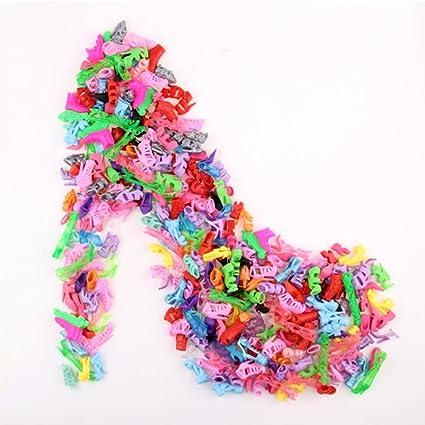 ACHICOO E-TING 10 Pairs/Lot Fashion Mini Shoes Doll Doll Accessories Random Style