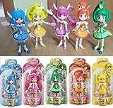 Glitter Force Smile Precure 5 Figure doll Set Cure Happy Beauty Sunny March Peace Bandai Korea New