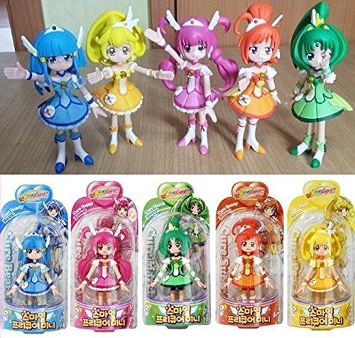 Glitter Force Smile Precure 5 Figure Doll Set Cure Happy