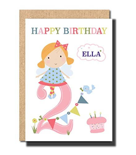 Personalised 2nd Birthday Card For Daughter GrandDaughter Niece Cousin