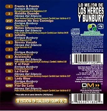 Various Kbo 274 Lo Mejor De Los Heroes Y Bunbury Karaoke Music