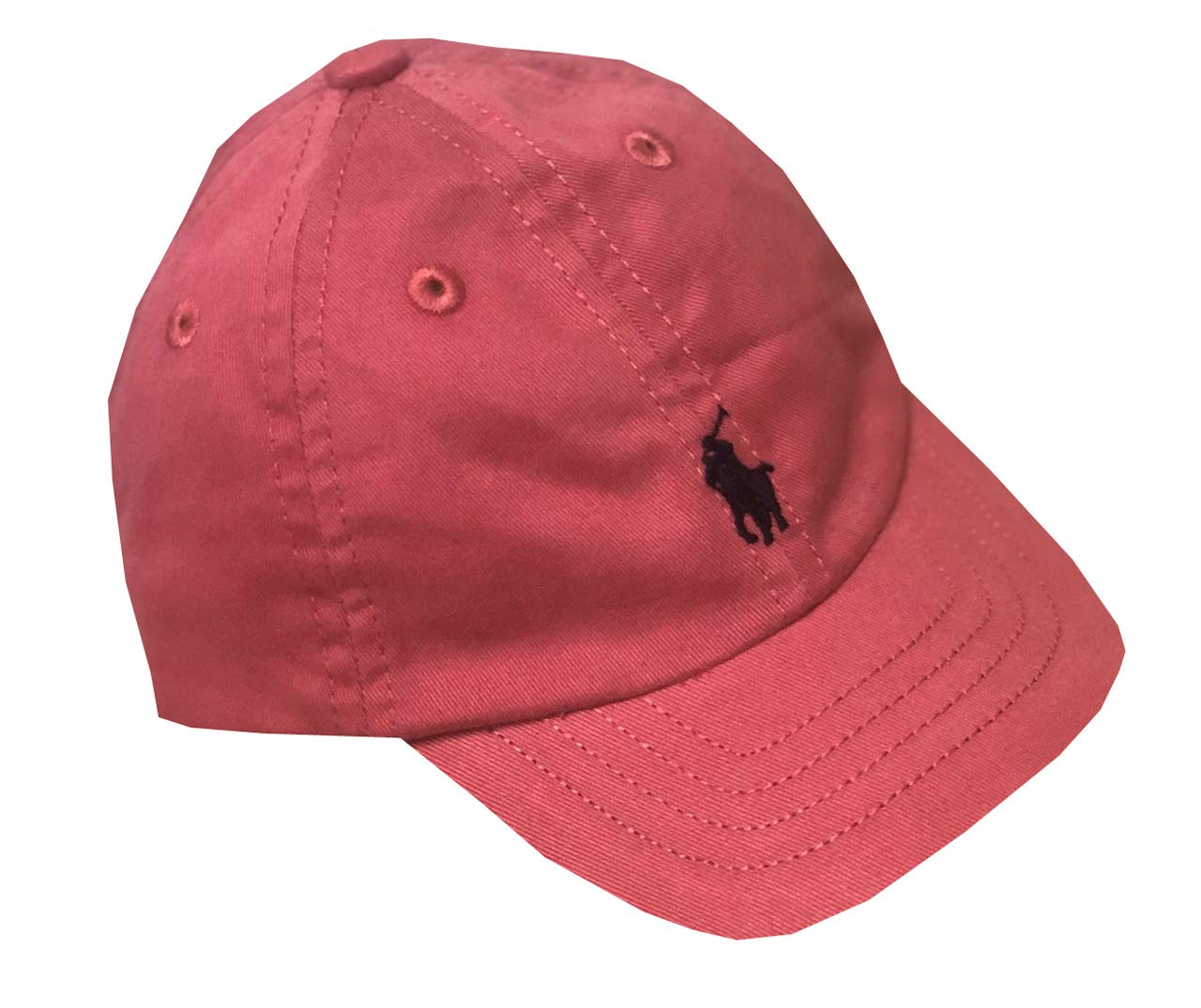 Polo Ralph Lauren Boys Pony Logo Baseball Hat Cap (4-7, Light Coral)