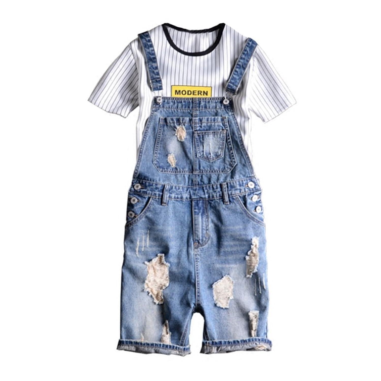 Brinny Vintage Jungen Latzhosen Shorts Loch Gewaschene Ausfransen Overall  Jeans Kurz Sommer Asien: S-2XL: Amazon.de: Bekleidung