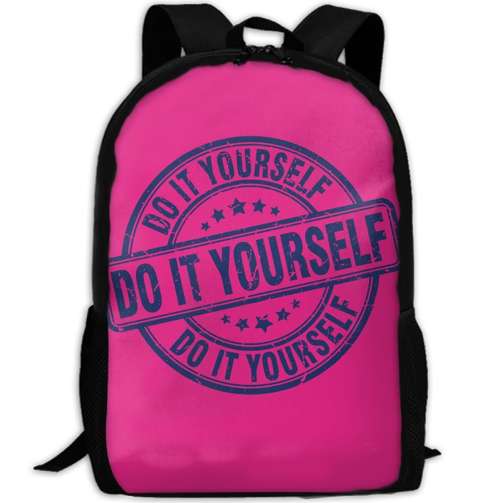 Do It Youeself Logo Double Shoulder Backpacks For Adults Traveling Bags Full Print Fashion by Tt123