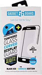 Gadget Guard Black Ice Plus Cornice Curved Edition Tempered Glass Screen Guard for Apple iPhone X - Clear