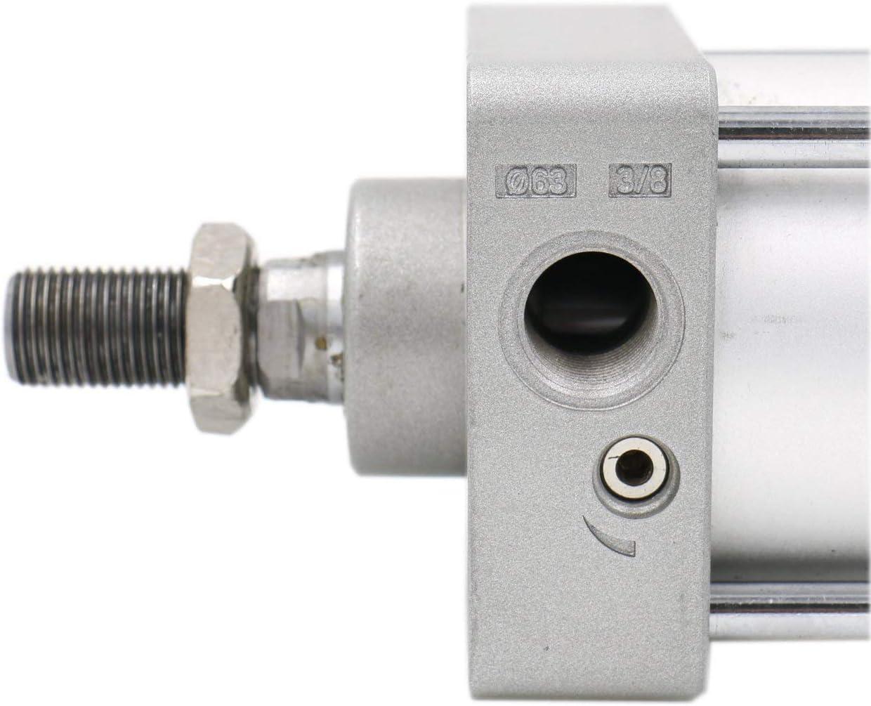 Stroke: 150mm Screwed Piston Rod Dual Action 1 Mpa Bore: 80mm AiCheaX Pneumatic Air Cylinder SC 80 x 150 PT 3//8
