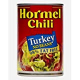 Hormel Turkey Chili No Beans, 15-Ounce (Pack of 6)