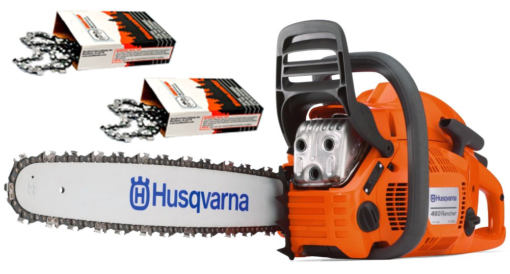 Husqvarna 460 Rancher (60cc) Cutting Kit, includes a 460 Rancher chainsaw PLUS 24'' Bar/Chain PLUS 3 Extra WoodlandPRO Chain Loops