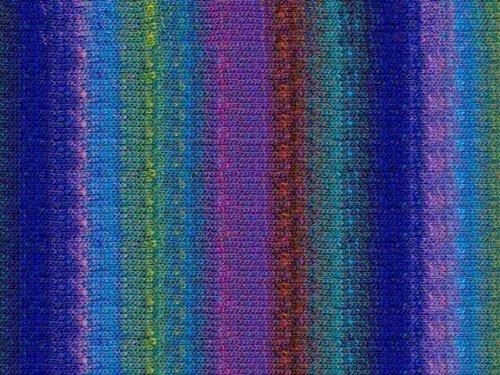 Noro Kureyon, 40 - Aqua-Brown-Purple Multi (Yard 110 Yarn)
