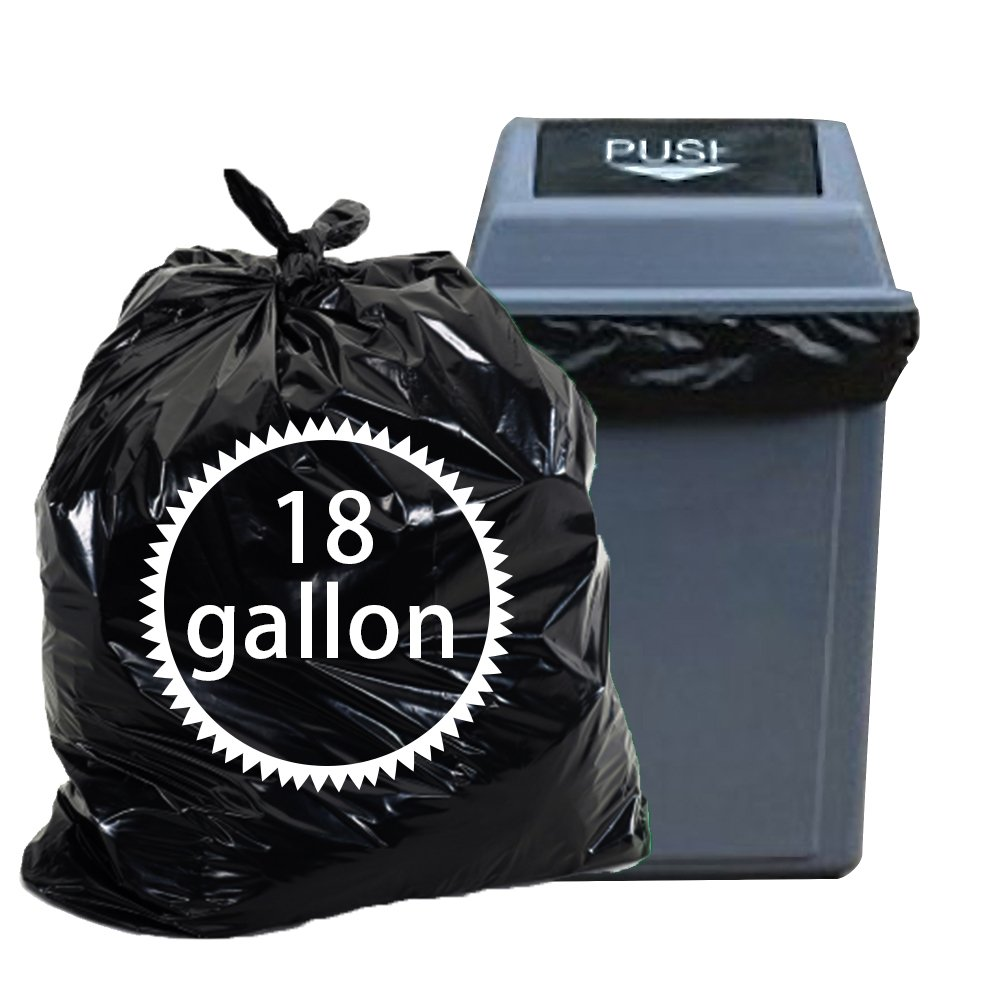 Nicesh 18 Gallon 90 Counts Trash Bags