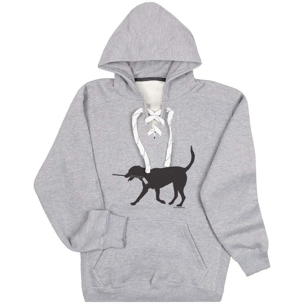 Hockey Sport Lace Sweatshirt | Howe The Hockey Dog |...