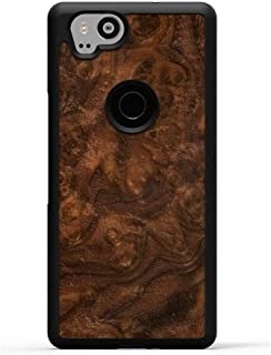 product image for Carved - Google Pixel 2 - Luxury Protective Traveler Case - Unique Real Wooden Phone Cover - Rubber Bumper - Walnut Burl